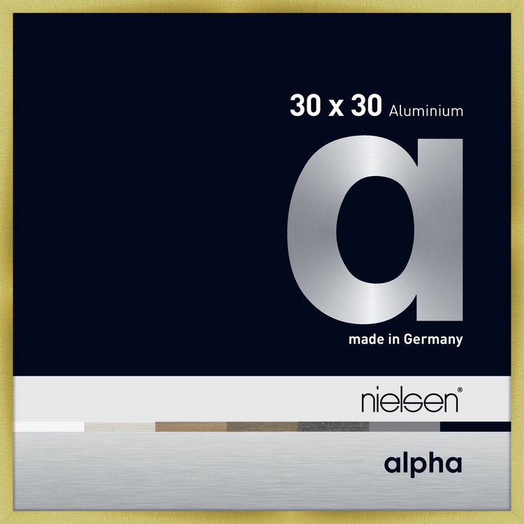 Alu-Rahmen Alpha 30x30 Brushed Gold 1633220