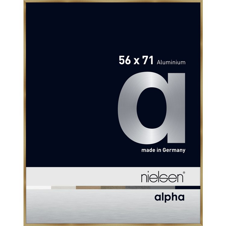 Alu-Rahmen Alpha 56x71 Brush.Amber 1657221